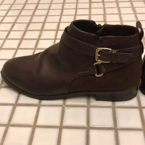 women's H&M brown ankle boots
